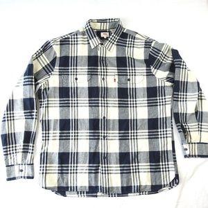 LEVIS Mens Cotton Flannel Long Sleeve Shirt